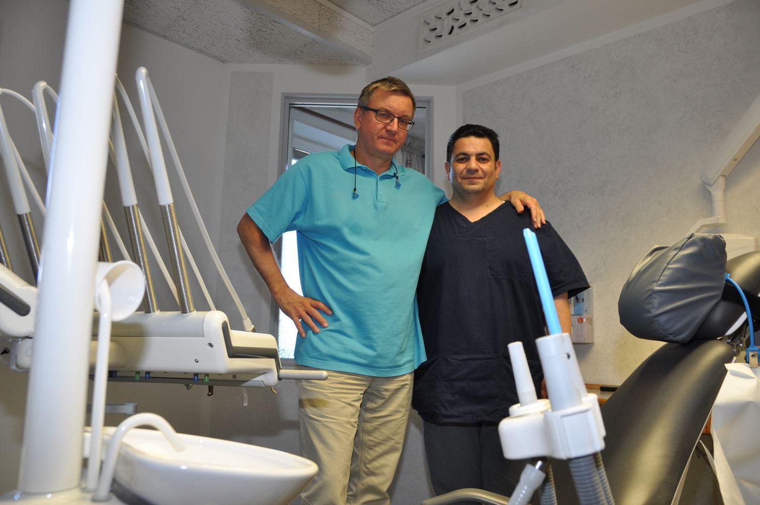 Pentti Hetta tillsammans med Tarek. Foto: Cathrine Ericson