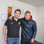 Stefan Klockare, tränare för SAIK tillsammans med Jesper Norlin, målvakt IFK Strömsund Hockey.
