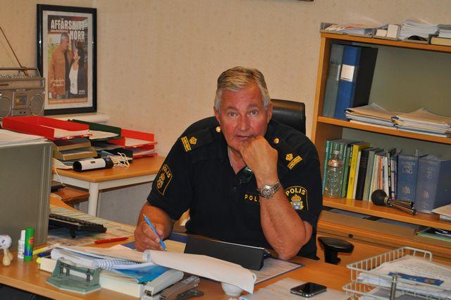 Foto: Cathrine Ericson. Göran Bergström som närpolischef.