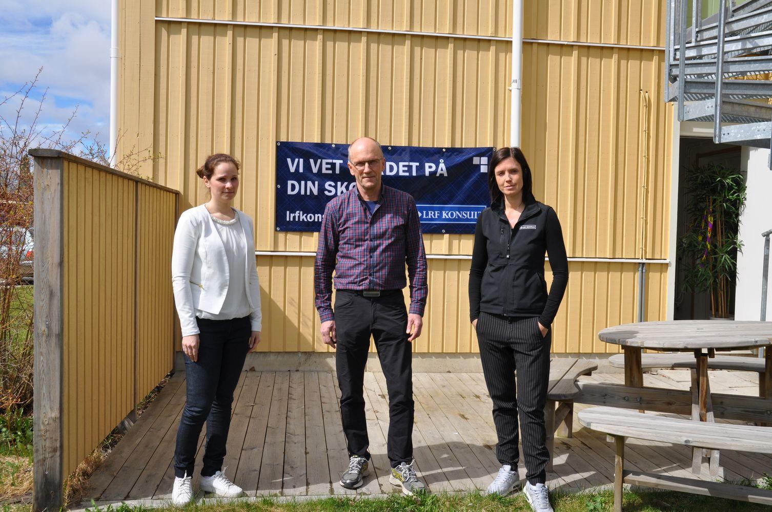 Sarah, Bengt och Sofia.