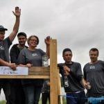 P´Jonsa å a´Nettan på tredje plats. De var generösa och gav prispengarna på 2.000 kronor tillbaka till Ringvattnets bygdeförening.