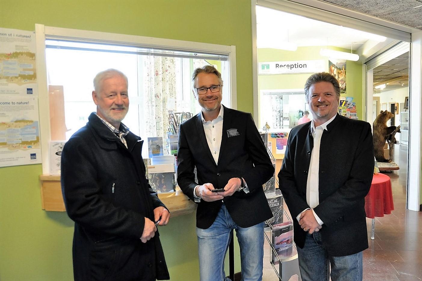 Foto: Cathrine Blixt. Fr v Jörgen Olofsson, Anders Pålsson ordförande Företagarna och Torbjörn Eriksson.