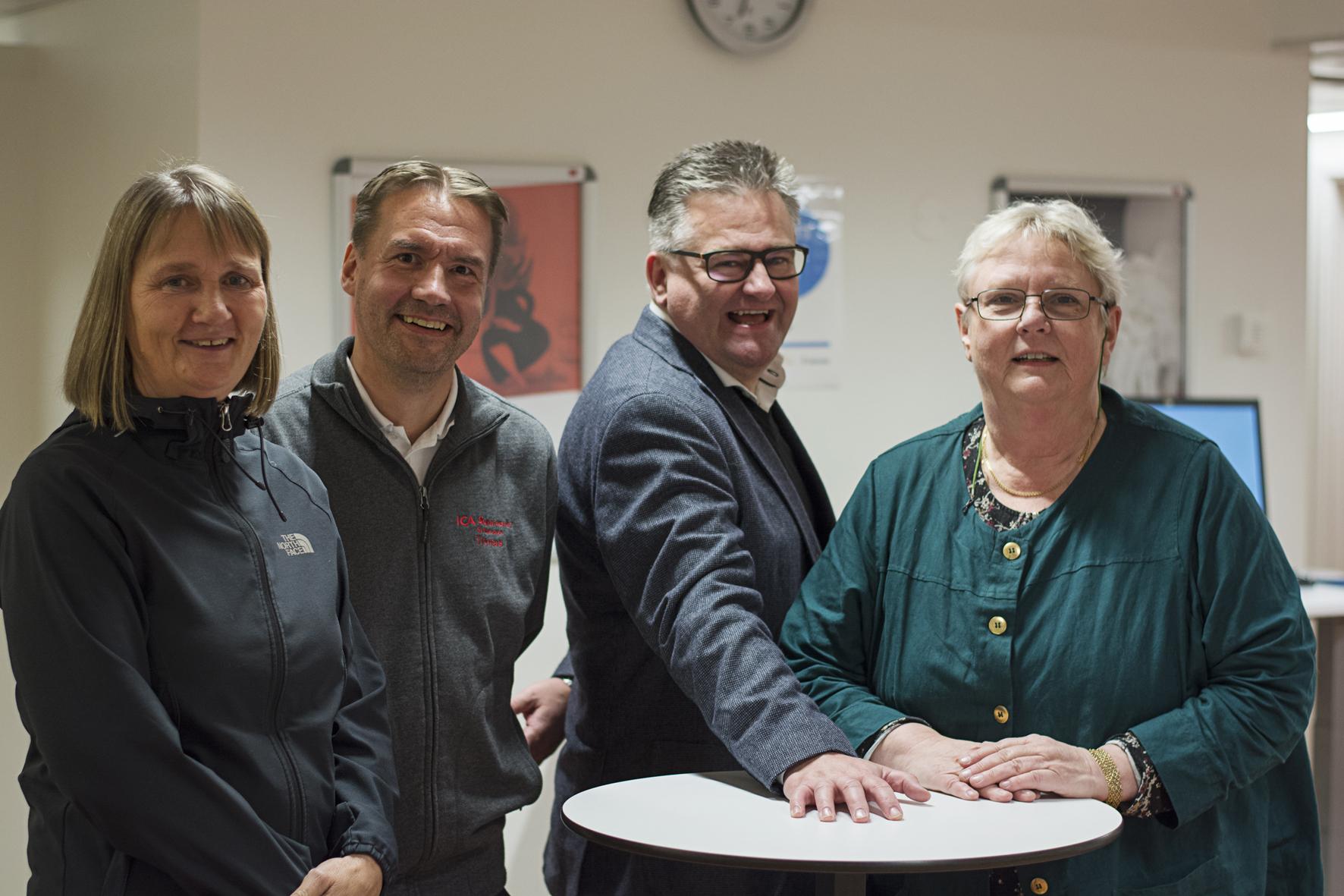 Fr v Kate Beck, Thomas Lundström, Håkan Olofsson och Karin Holmquist. Foto Pernilla Gunnarsdotter Persson