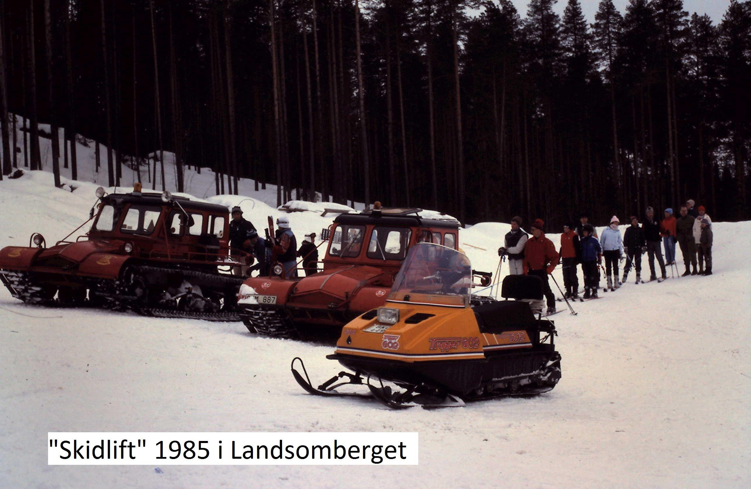 Så här såg det ut vid Landsomberget 1985. Privat bild.