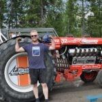 Olle Andersson från Hammerdal vann årets tävling i traktorpulling.