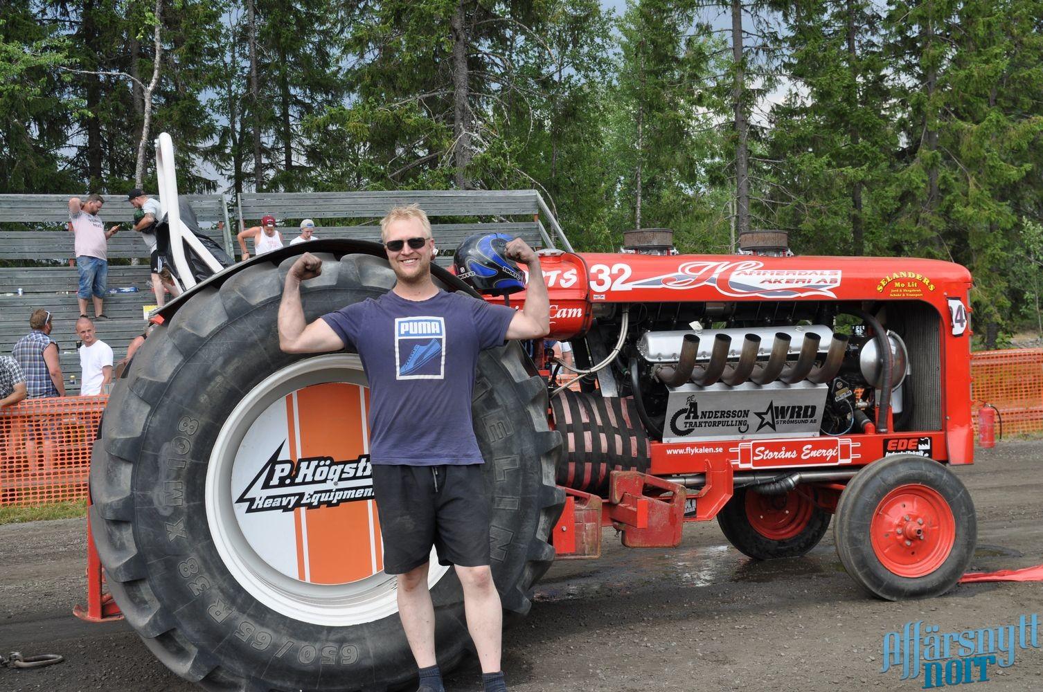 Olle Andersson från Hammerdal vann årets tävling i traktorpulling. Arkivbild. Cathrine Blixth.